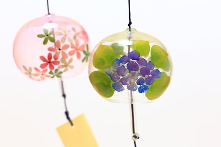 Japanese wind chimes close up Stock Photo