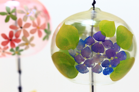 background pattern: Japanese wind chimes close up Stock Photo
