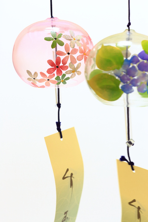Japanese wind chimes close up Stock Photo - 85140716