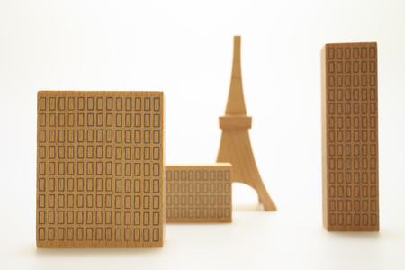 Miniature buildings Stock Photo