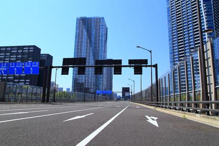 Tokyo Asphalt Road Stock Photo
