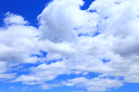 White clouds on a blue sky Stock Photo