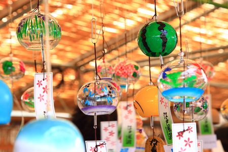 Japanese wind chimes Stock Photo - 114411414