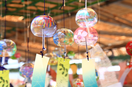 Japanese wind chimes Stock Photo - 114068484