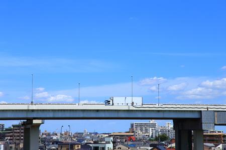 Truck driving on Metropolitan Expressway