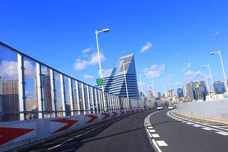 Tokyo Metropolitan Expressway with cityscape