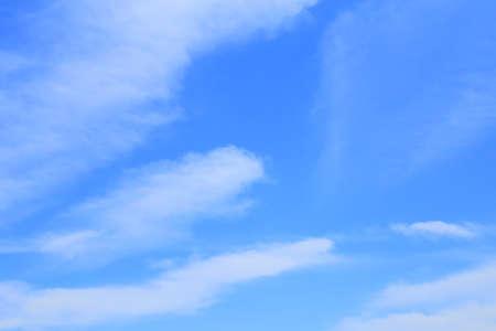 Cirrostratus cloud on blue sky