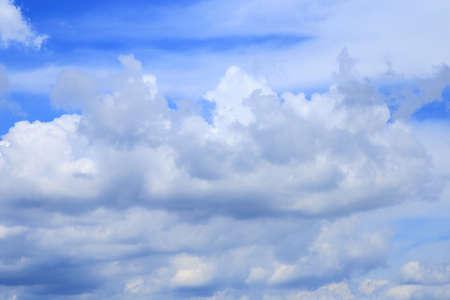 Cumulonimbus cloud on blue sky