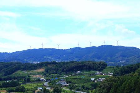 Wind turbines on the mountain Stockfoto