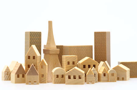 Miniature buildings with miniature Tokyo tower
