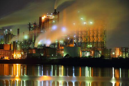 北九州工場の夜景 写真素材