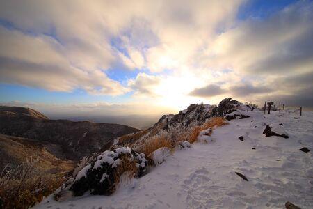 Snow trails