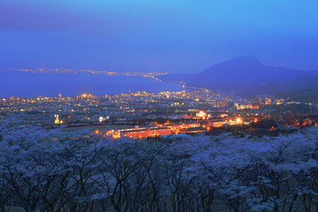 night view: Night view of Beppu