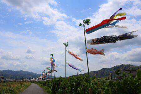 青空と鯉のぼり 写真素材