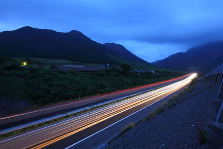 Night view of the highway