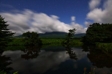Pond and plateau 写真素材
