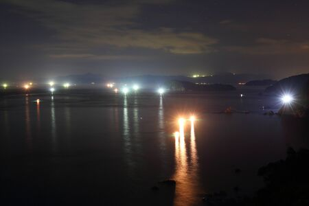 Night sea 写真素材