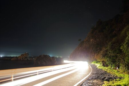 Car light trail 写真素材