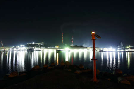 Night view of the port