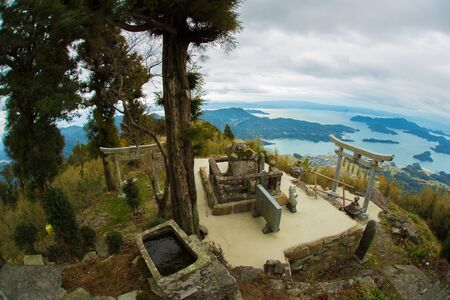 Torii at the top of the mountain