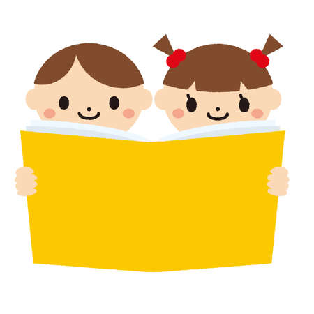 Icons of Children Reading a Book