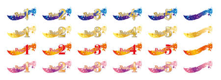 Magical-looking point icon set / White Background