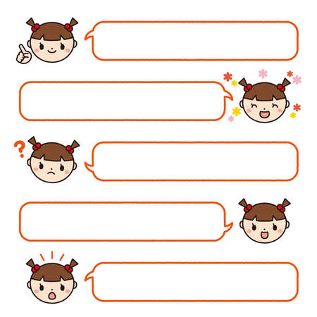 a Speech bubbles set of kids reading a book