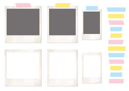 Instant photo frames and various masking tapes