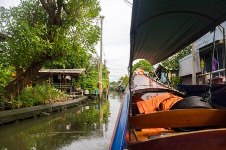 southeast asian ethnicity: Floating market Stock Photo