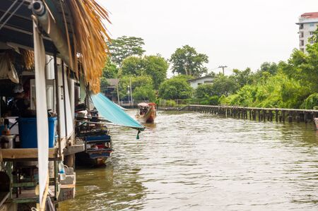 southeast asian ethnicity: Floating market Editorial