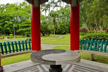 front  or back  yard: Chinese Garden Stock Photo