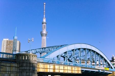 sumida: Sky Tree and Sumida River
