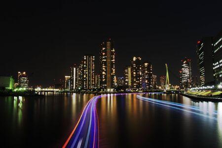 Tokyo tsukishima nacht Tsukishima Tokyo Japan