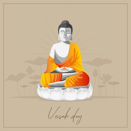 Vector Background for Vesak Day