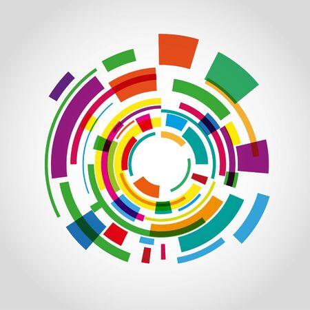 Abstract Colorful Circle background Ilustração