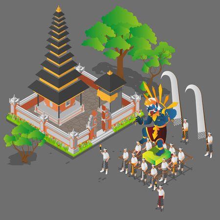 Isometric Balinese Ceremony