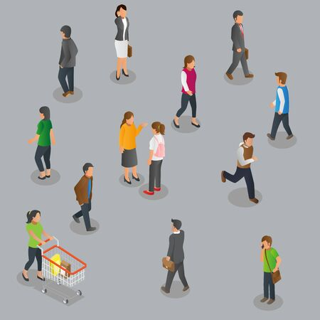 Isometric Pedestrian set