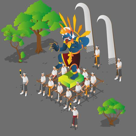 Isometric Balinese Ceremony