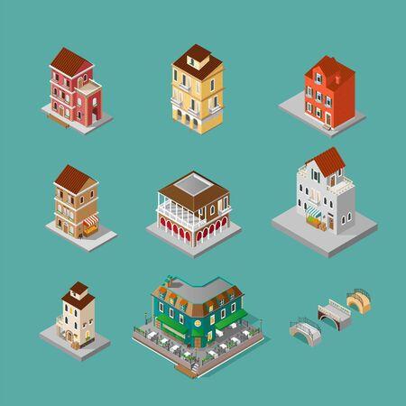 Isometric Venice Building set