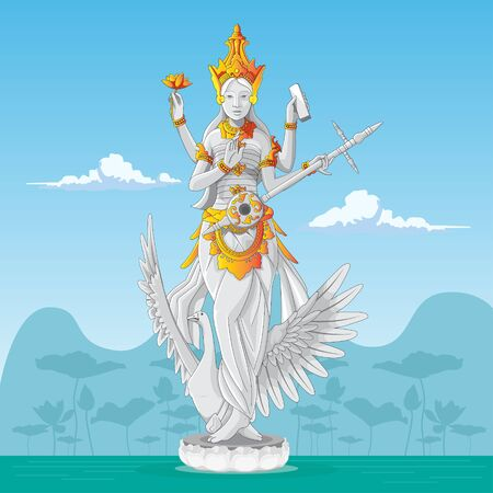 saraswati statue - the Hindu goddess of knowledge