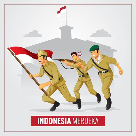 Indonesia Independence day with hero background