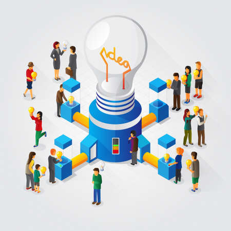 isometric idea generator and sharing concept