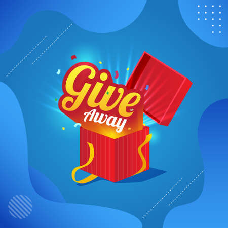 give away poster template for social media post