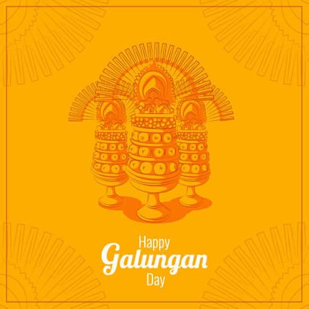 Balinese galungan greetings card