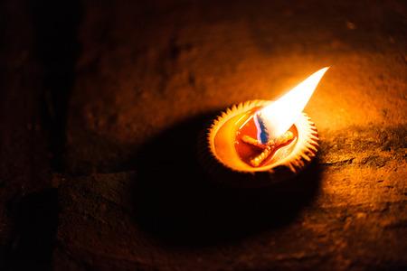 flame like: Candle close up