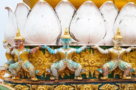garuda: Garuda decoration detail in Emerald Buddha Temple Krabi, Thailand.