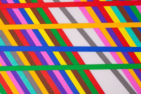 colourful papers background. Rainbow colored paper close up Stock Photo