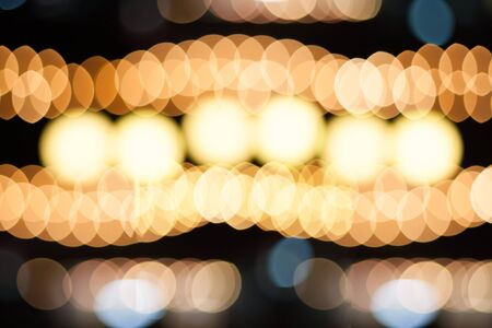 styled: Christmas lights defocused background. Vintage styled holiday abstract bokeh