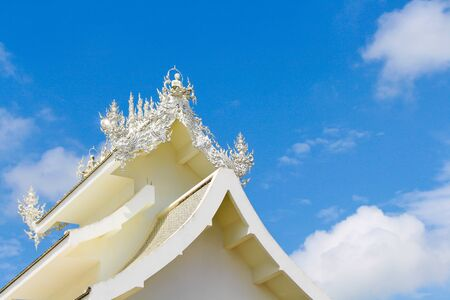 noire: White temple in Thailand by retro style