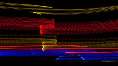 long exposure: Long exposure small neon lights texture. Modern art. Abstract whit color neon light.